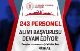 Kültür ve Turizm Bakanlığı DOB ve DT 243 Personel...