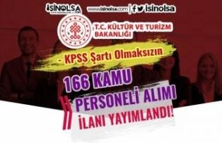 Kültür ve Turizm Bakanlığı KPSS Siz 166 Kamu...