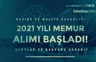 Maliye Bakanlığı 2021 Yılı Memur Alımı Başladı!...