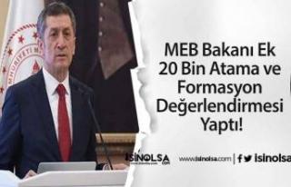 MEB Bakanı Ek 20 Bin Atama ve Formasyon Değerlendirmesi...