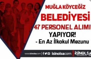 Muğla Köyceğiz Belediyesi İlkokul Mezunu 46 Personel...