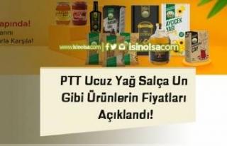 PTT Ucuz Yağ Salça Un Gibi Ürünlerin Fiyatları...