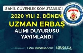 Sahil Güvenlik 2020 Yılı 2. Dönem Uzman Erbaş...