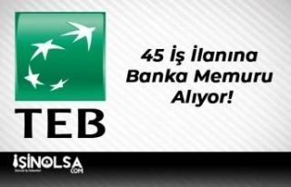 TEB Bankası 45 İş İlanına Banka Memuru Alıyor!