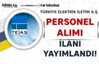 TEİAŞ 5 Farklı Şehirde İşçi Personel Alım...