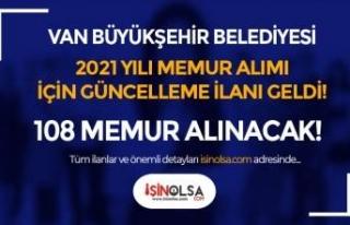 Van Büyükşehir Belediyesi Memur Alımında O Kadro...