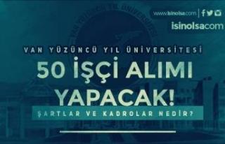 Van Yüzüncü Yıl Üniversitesi 50 Kadrolu İşçi...