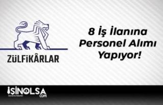 Zülfikar Holding 8 İş İlanına Personel Alımı...