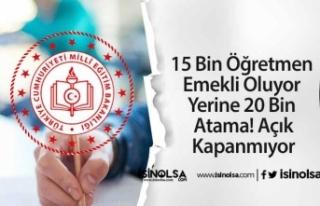 15 Bin Öğretmen Emekli Oluyor Yerine 20 Bin Atama!...