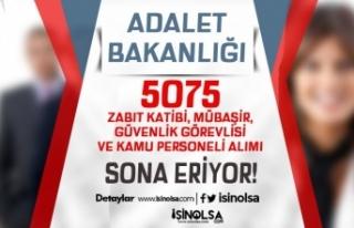2021 yılı 5075 Zabıt Katibi, Mübaşir, Güvenlik...