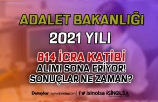2021 Yılı 814 İcra Katibi Alımı Sona Eriyor!...