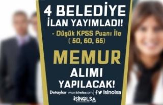 4 Belediye İlan Yayımladı! Düşük KPSS İle (...