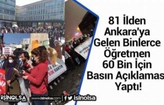 81 İlden Ankara'ya Gelen Binlerce Öğretmen...