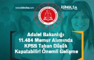 Adalet Bakanlığı 11.484 Memur Alımında KPSS Taban...