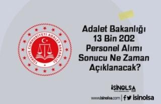 Adalet Bakanlığı 13 Bin 202 Personel Alımı Sonucu...