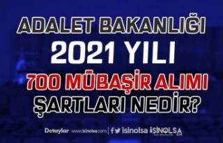 Adalet Bakanlığı 2021 Yılı 700 Mübaşir Alımı...