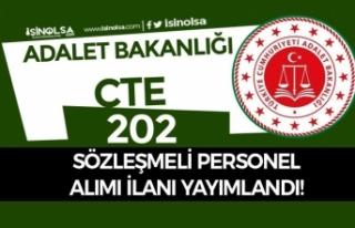 Adalet Bakanlığı CTE 202 Sözleşmeli Personel...