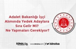 Adalet Bakanlığı İşçi Alımında Yedek Adaylara...