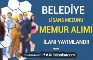 Akseki Belediyesi KPSS İle Lisans Mezunu Memur Alımı...
