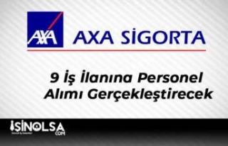 Axa Sigorta 9 İş İlanına Personel Alımı Gerçekleştirecek