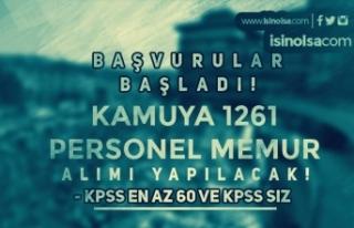 Başvurular Başladı! KPSS Siz ve 60 KPSS İle 1261...