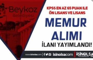 Beykoz Belediyesi KPSS 65 İle Ön Lisans ve Lisans...