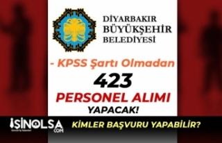 Diyarbakır Büyükşehir Belediyesi 423 Personel...