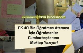EK 40 Bin Öğretmen Ataması İçin Öğretmenler...