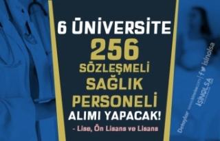 En Az Lise Mezunu 6 Üniversite 256 Sözleşmeli Sağlık...