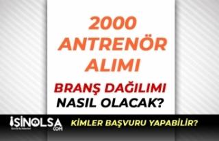 GSB 2 Bin Antrenör Alımı Branş Dağılımı Nasıl...