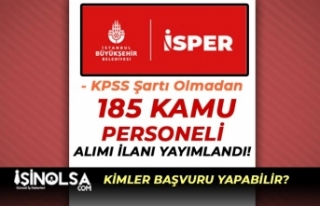 İBB Personel Yönetim ( İSPER ) 185 Kamu Personeli...