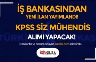 İş Bankası Yeni Personel Alımı İlan! KPSS Siz...