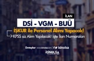 İŞKUR Kamu Personeli Alımı İlanları: VGM, BUÜ...