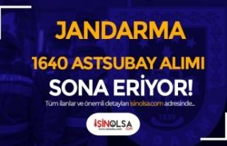 Jandarma 2021 Yılı Sözleşmeli/Muvazzaf 1640 Astsubay...