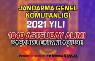 Jandarma Sözleşmeli / Muvazzaf 1640 Astsubay Alımı...