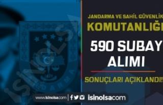 Jandarma ve Sahil Güvenlik 590 Subay Alımı Sonuçları...