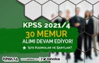 KPSS 2021/4 Tercihleri Devam Ediyor! Bakanlık 30...