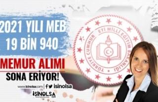 MEB 50 KPSS İle 19 Bin 940 Devlet Memuru Alımı...