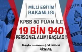 Milli Eğitim Bakanlığı 19 Bin 940 Kamu Personeli...