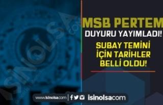 MSB'den Subay Temini Duyurusu Geldi! TSK Hukuk...