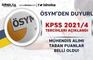 ÖSYM KPSS 2021/4 Sonuçları Açıklandı! Mühendis...