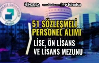 Pamukkale Üniversitesi 51 Sözleşmeli Personel Alacak!...