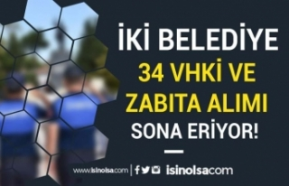 Şırnak ve Pendik Belediyesi 60 KPSS İle Zabıta...