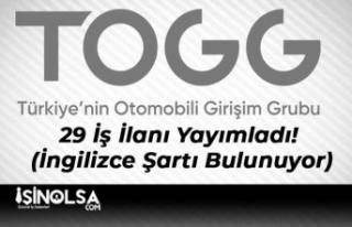 TOGG 29 İş İlanı Yayımladı! (İngilizce Şartı...