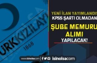 Türk Kızılayı Yeni İlan Yayımladı! KPSS siz...