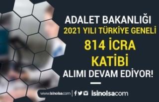 Türkiye Geneli 2021 Yılı 814 İcra Katibi Alımı...