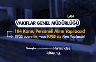 Vakıflar Genel Müdürlüğü KPSS'li KPSS Siz...