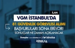 VGM İstanbul'da 81 Güvenlik Görevlisi Alımı...