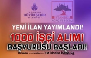 Yeni İlan: İstanbul Ağaç ve Peyzaj 1000 İşçi...