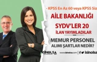 Yeni İlanlar Geldi: 20 SYDV 60 KPSS İle ve KPSS...